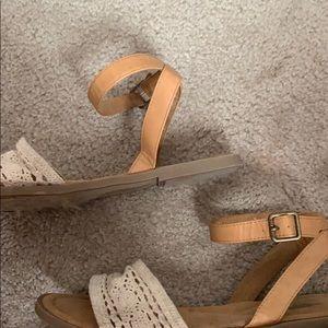 Crochet tan sandals